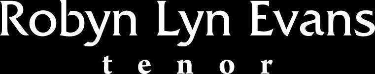 Welsh Tenor Robyn Lyn